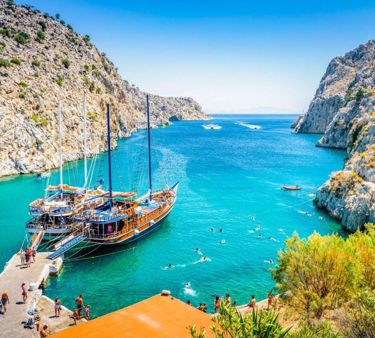 Kalymnos, her yıl Uluslararası Dalış Festivali'ne ev sahipliği yapıyor. Batık antik şehir ise dalışçıların zafer kupası.