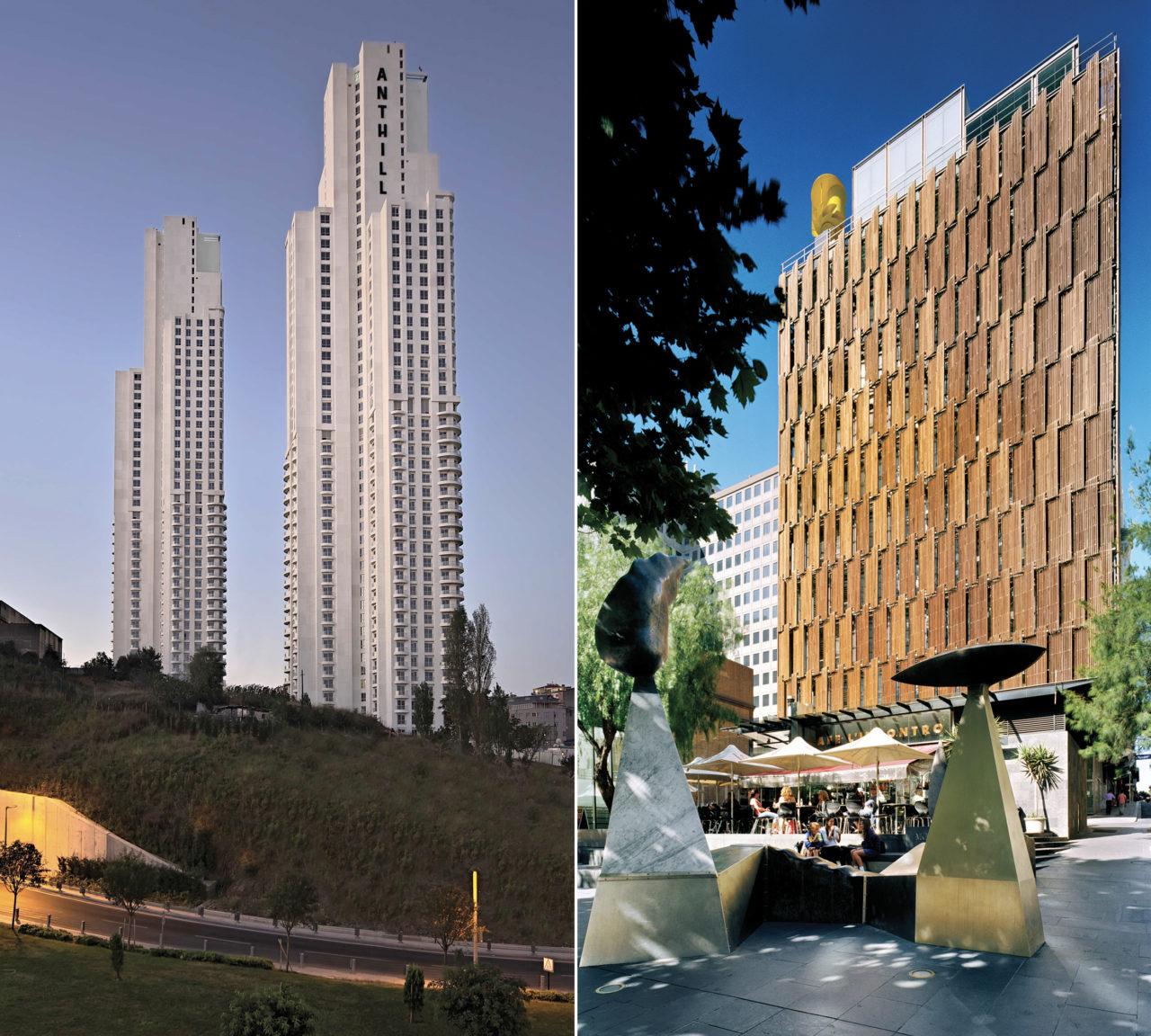 Anthill, Türkiye'nin ilk BREEAM yeşil bina sertifikalı rezidans projesi. Avustralya'daki Council House 2 , dünyadaki yeşil bina örneklerine ilham veren bir proje.